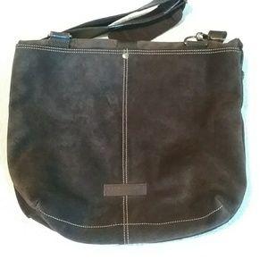 Kenneth Cole dark brown suede bag